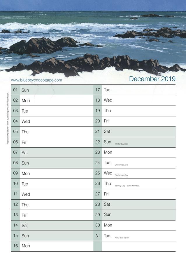 blue beyond calendar