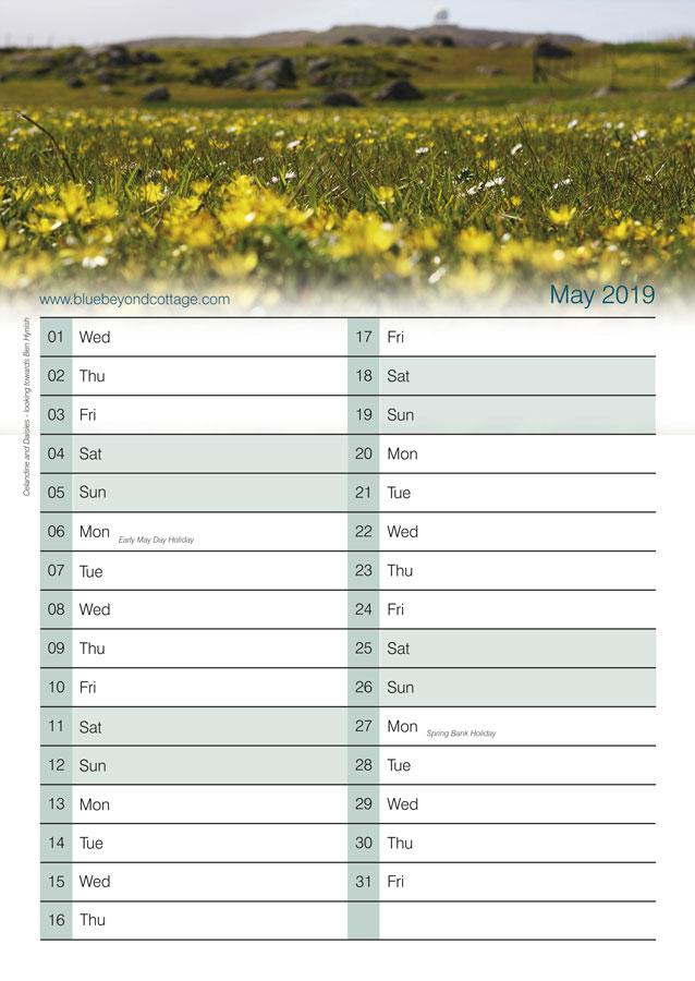 blue beyond cottage calendar