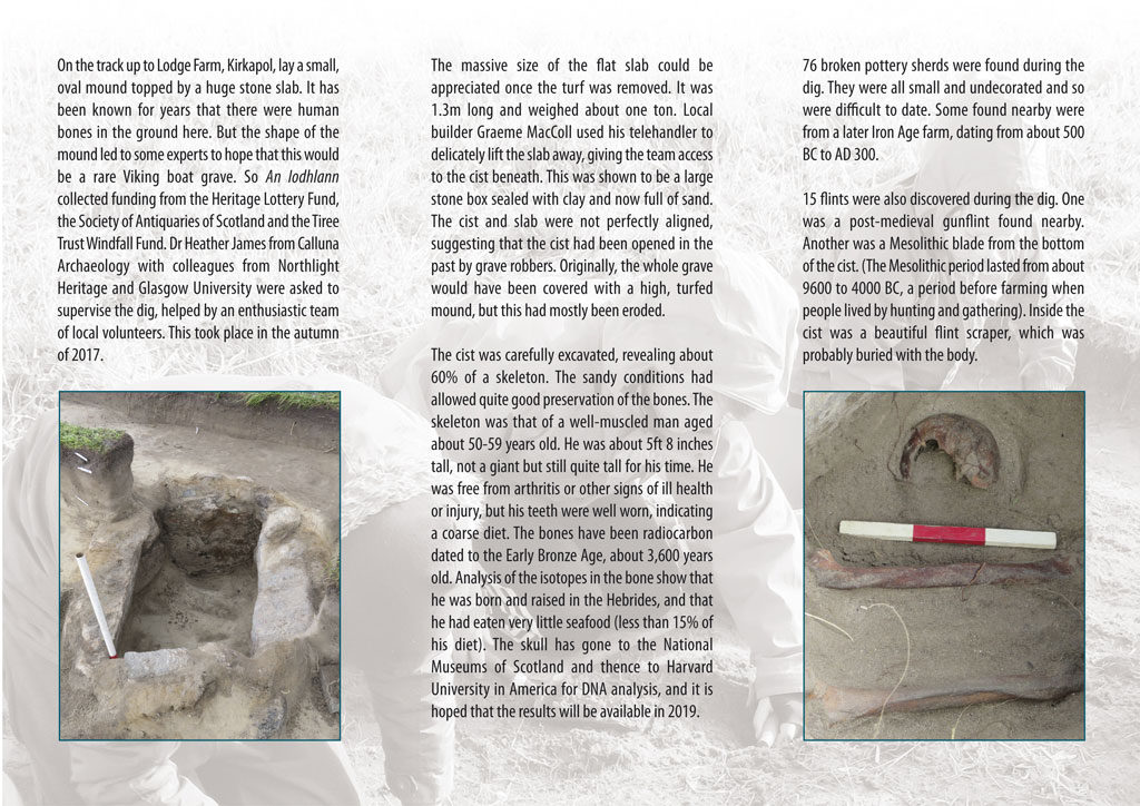 giant's grave brochure page