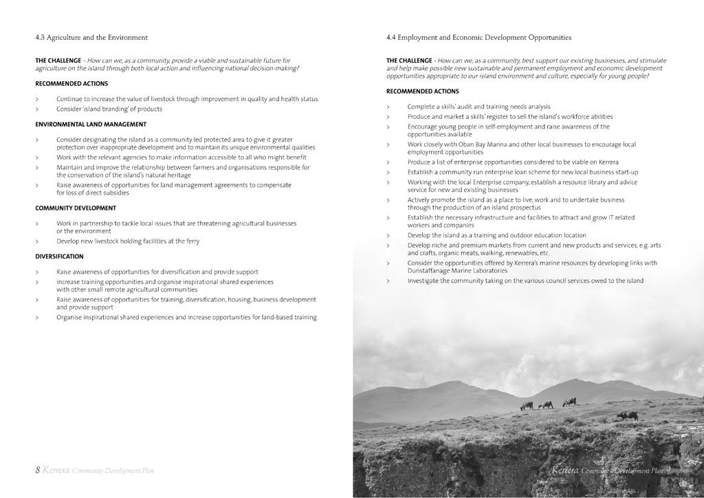 kerrera development plan page