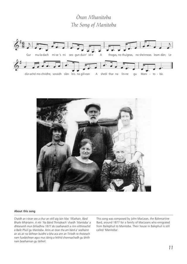 tiree gaelic songbook page