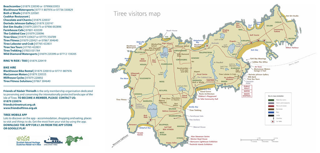 tiree visitor map