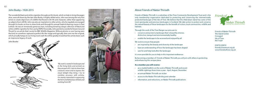 tiree walks book page