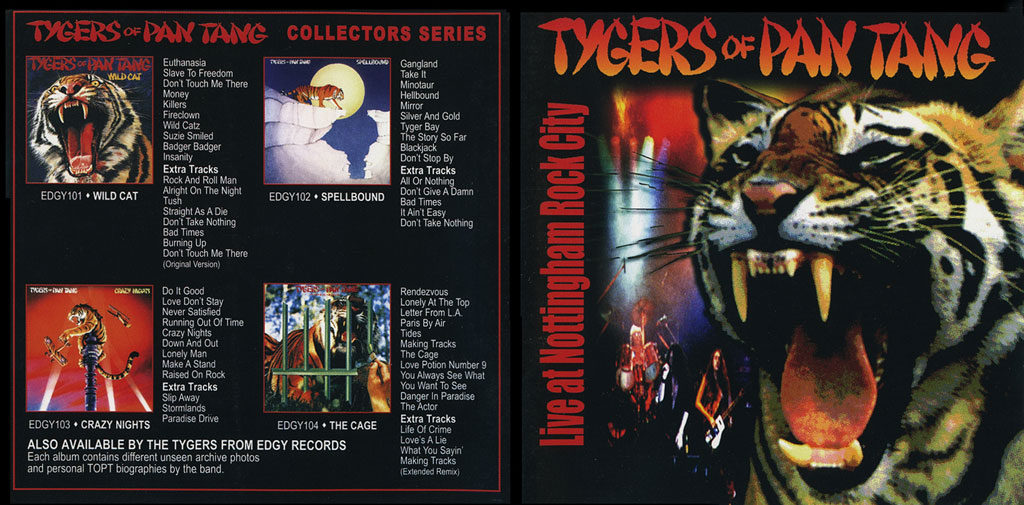 tygers cd booklet cover