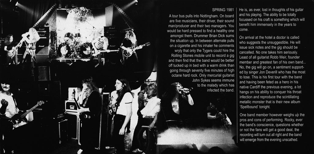 tygers cd booklet page