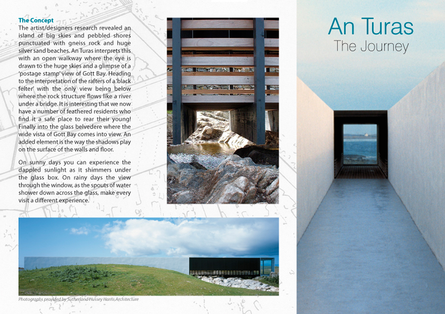 An Turas brochure front.