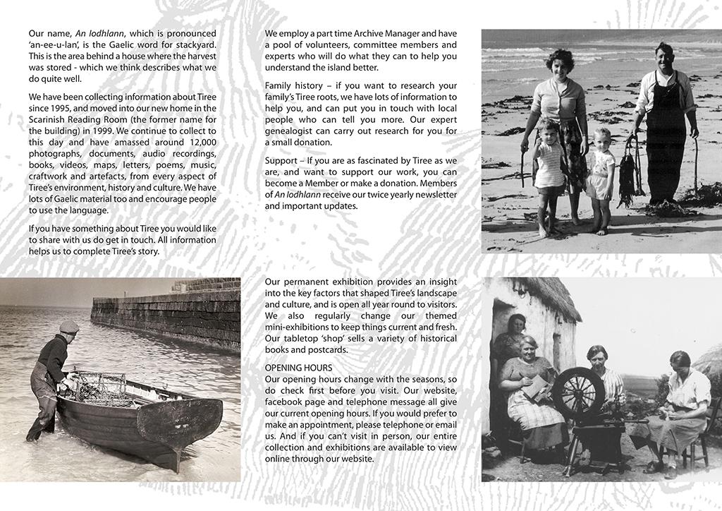 An Iodhlann brochure page
