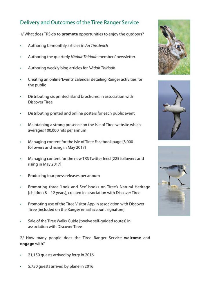 Tiree Ranger Plan page
